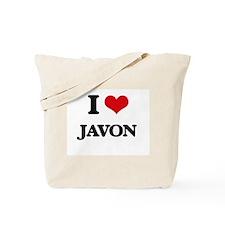 I Love Javon Tote Bag
