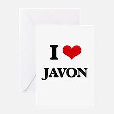 I Love Javon Greeting Cards