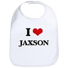 I Love Jaxson Bib