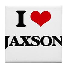 I Love Jaxson Tile Coaster