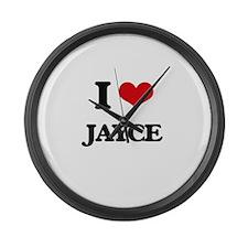 I Love Jayce Large Wall Clock