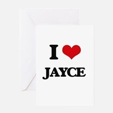 I Love Jayce Greeting Cards