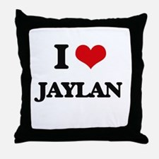 I Love Jaylan Throw Pillow