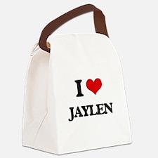 I Love Jaylen Canvas Lunch Bag