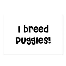 I breed Puggles Postcards (Package of 8)