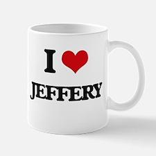 I Love Jeffery Mugs