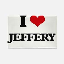 I Love Jeffery Magnets