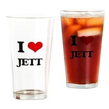 I Love Jett Drinking Glass
