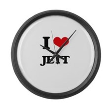 I Love Jett Large Wall Clock