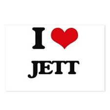 I Love Jett Postcards (Package of 8)