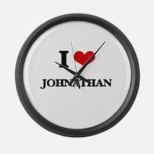I Love Johnathan Large Wall Clock