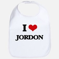 I Love Jordon Bib