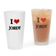 I Love Jordy Drinking Glass