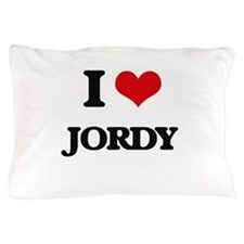 I Love Jordy Pillow Case