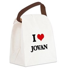 I Love Jovan Canvas Lunch Bag