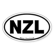 New Zealand Oval Sticker NZL