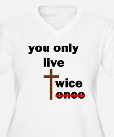 you only live twice 10x10 trans Plus Size T-Shirt