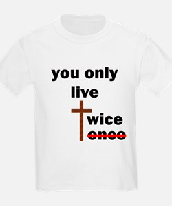 you only live twice 10x10 trans black lett T-Shirt