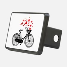 Vintage Bike with Hearts Hitch Cover