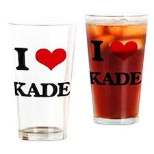 I Love Kade Drinking Glass