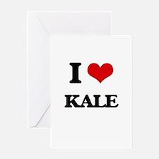 I Love Kale Greeting Cards