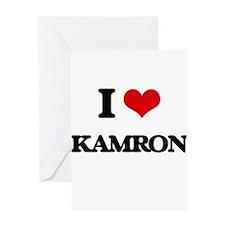 I Love Kamron Greeting Cards