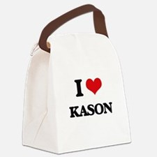 I Love Kason Canvas Lunch Bag