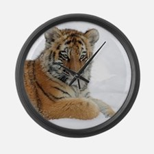 Tiger_2015_0104 Large Wall Clock