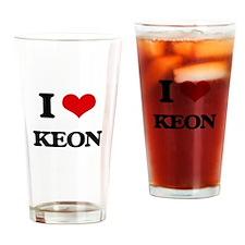I Love Keon Drinking Glass