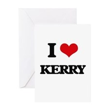I Love Kerry Greeting Cards