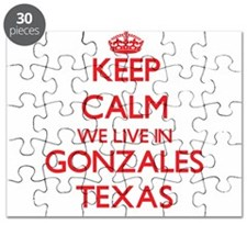 Keep calm we live in Gonzales Texas Puzzle