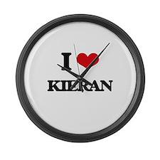 I Love Kieran Large Wall Clock