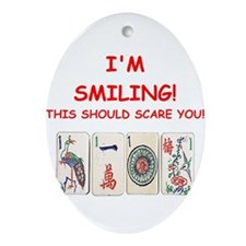 mahjong joke Ornament (Oval)
