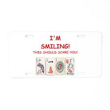 mahjong joke Aluminum License Plate