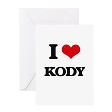 I Love Kody Greeting Cards