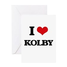 I Love Kolby Greeting Cards