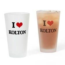 I Love Kolton Drinking Glass