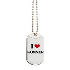 I Love Konner Dog Tags