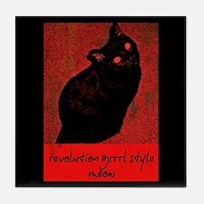Revolution Grrrl Style Meow Tile Coaster