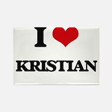 I Love Kristian Magnets