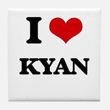 I Love Kyan Tile Coaster