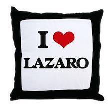 I Love Lazaro Throw Pillow
