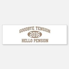 Hello Pension 2016 Bumper Car Car Sticker