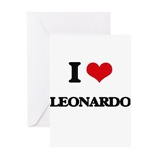 I Love Leonardo Greeting Cards