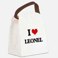 I Love Leonel Canvas Lunch Bag