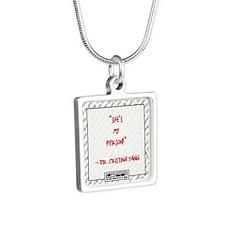 SHE'S MY PERSON Silver Square Necklace