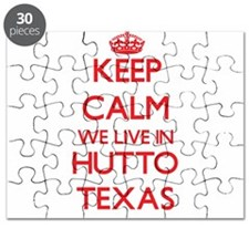 Keep calm we live in Hutto Texas Puzzle