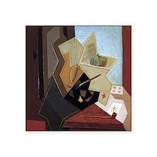 "Painters Window by Juan Gri Square Sticker 3"" x 3"""