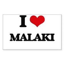 I Love Malaki Decal