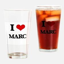 I Love Marc Drinking Glass